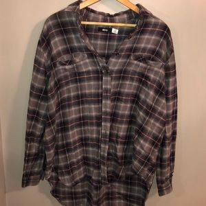 BDG (urban outfitters) oversized high low flannel